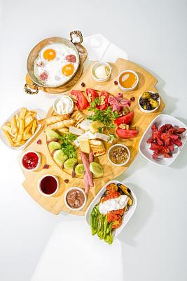 早餐,个性,巨大的,绿胡椒子,乳酪板,春卷,垂直画幅,选择对焦,无人,烘焙糕点