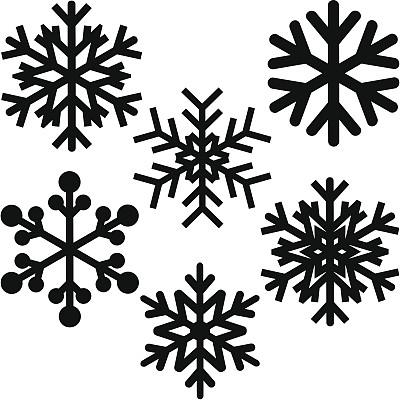 雪花,形状,雪,无人,绘画插图,卡通,图像,冰晶