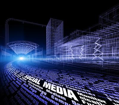 概念,传媒,未来,夜晚,想法,信息高速公路,技术,光,条纹,街道