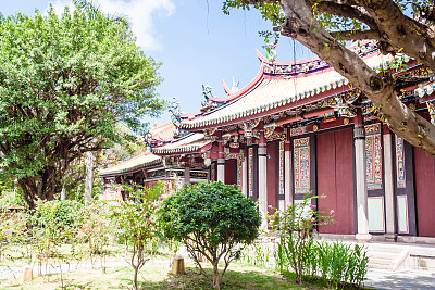 孔子庙,孔子,美,留白,灵性,水平画幅,无人,古老的,东亚,夏天