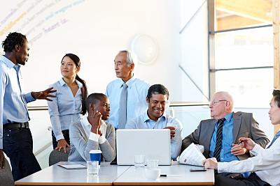 混血儿,会议,人群,商务人士,混合年龄,非裔美国人,男商人,经理,男性,日本人