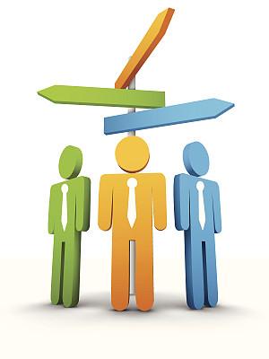 方向,领导能力,灵感,形状,绘画插图,阴影,商务会议,箭头符号,男商人,想法