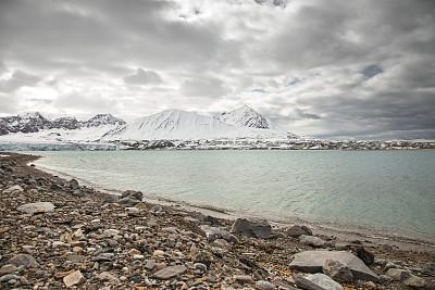 斯瓦尔巴德群岛,冰河,北极,风景,北冰洋,斯瓦尔巴特群岛和扬马延岛,斯匹兹卑尔根,寒冷,水平画幅,地形