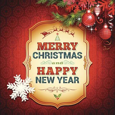 背景,圣诞卡,动物雪车,雪橇,布告,圣诞老人,圣诞装饰,边框,古典式