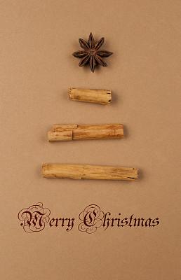 贺卡,星茴芹,垂直画幅,无人,新年,符号,圣诞树,圣诞礼物,圣诞装饰物