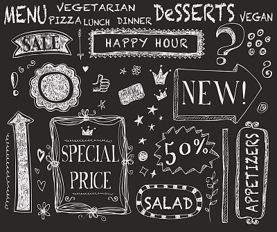 插畫,粉筆畫,粉筆,菜單,黑板,古董,邊框,素食,無人,繪畫插圖