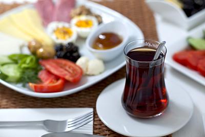 早餐,美味,花园耙,餐垫,希腊食物,水平画幅,无人,莳萝,餐刀,烘焙糕点