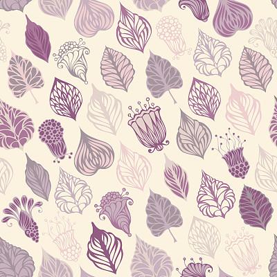 紫色,花纹,美,形状,绘画插图,古典式,夏天,组物体,四方连续纹样,计算机制图