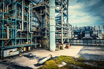 工厂,锅炉,化工厂,水平画幅,能源,装管,无人,户外,金属,工业