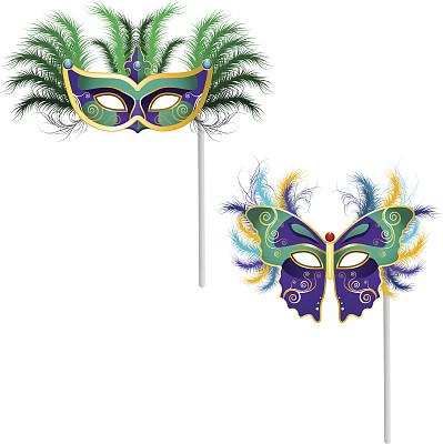 威尼斯面具,纽奥尔良,化妆面具,歌剧,戏面具,弄臣,宝石,伪饰,绘画插图