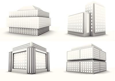 建筑外部,未来,外立面,银色,无人,绘画插图,巨大的,户外,都市风景,现代