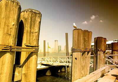 码头,马桩,长岛,水湾,水,水平画幅,无人,户外,交通方式,湖