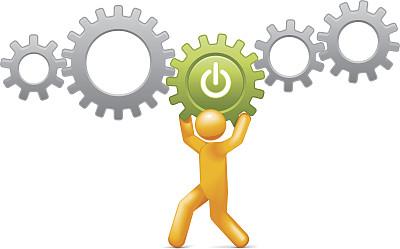 开始按钮,信息符号,绘画插图,符号,齿轮,电源,想法,彩色图片,简笔人物画,效率