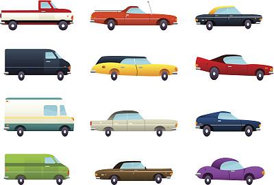 卡通,汽车,玩具卡车,无线手持机,载人车,车门,保险杠,古董车,车轮,面包车