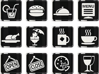 咖啡馆,计算机图标,柠檬苏打水,餐具,葡萄酒,冰淇淋,无人,绘画插图,符号,膳食
