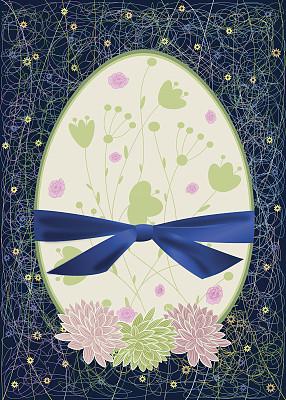 背景,抽象,复活节,不完全的,乱画,无人,蓝色,蝴蝶结,绘画插图,斑点