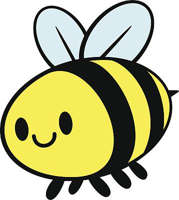 蜜蜂,可爱,螫针,黄蜂,拟人笑脸,绘画插图,性格,卡通,动物,日本漫画风格