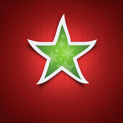 树顶装饰,绿色,红色背景,摩拉维亚星,贺卡,留白,边框,圣诞卡,艺术