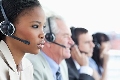 耳麦,商务,衣服,团队,水平画幅,电话机,顾客,白人,男商人,男性
