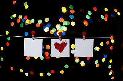 红色,心型,贺卡,约会之夜,留白,圣诞卡,水平画幅,形状,夜晚