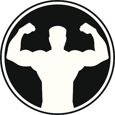 男人,韧性,符号,大力士,胸肌,鼓起肌肉,举重训练,运动,背景分离,休闲活动