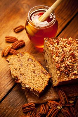 美洲山核桃,有机食品,蛋糕,蜂蜜,垂直画幅,甜馅饼,无人,正上方视角,烘焙糕点,甜食