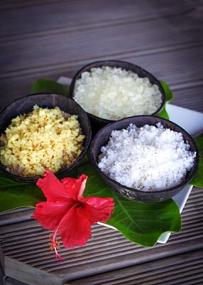 去角质,spa美容,鸡尾酒,商品,浴盐,垂直画幅,美,褐色,椰子,健康