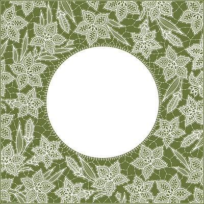 边框,百合花,花边,装饰桌巾,贺卡,复活节,形状,无人,刘海,绘画插图