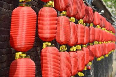 灯笼,红色,月蚀,2014年,中国灯笼,新的,椭圆形,水平画幅,尼龙,无人