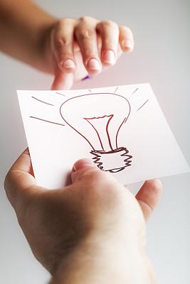 灯丝,垂直画幅,脑风暴,灵感,智慧,符号,电灯泡,白人,男性,想法