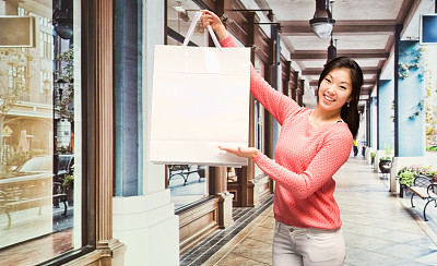 购物中心,女人,服装店,半身像,四肢,顾客,商店,举起手,仅成年人,青年人