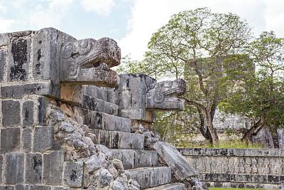 契晨-伊特萨,墨西哥中部,尤卡坦州,纪念碑,灵性,中美洲,古老的,石灰石,石材,过去