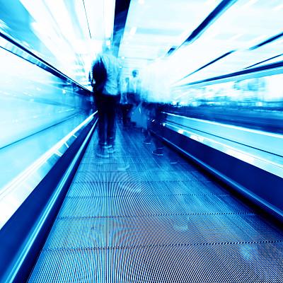 机场,步行道路,自动人行道,电动扶梯,空中走廊,电梯,未来,旅行者,金属,人行道
