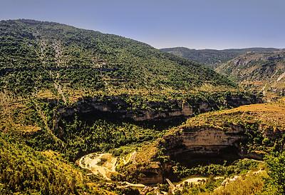 沟壑,塔河峡谷,塔恩河,塞文山区,罗泽尔,比利牛斯山地区,朗格多克-鲁西永,水平画幅,高视角,无人