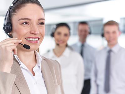 办公室,快乐,职业,横截面,人群,呼叫中心,耳麦,水平画幅,套装,白人