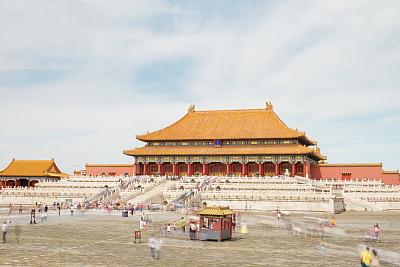 故宫,宫殿,北京,博物馆,公园,旅游目的地,水平画幅,禁止的,旅行者,户外