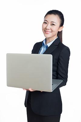 青年人,女商人,亚洲,垂直画幅,美,笔记本电脑,美人,仅成年人,白领,白色