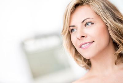 肖像,彩妆,纯净,化妆用品,完美,仅成年人,头发,青年人,自然美