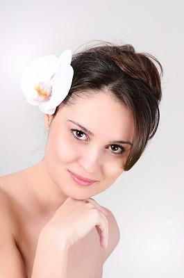 青年女人,完美,注视镜头,皮肤,肉毒毒素注射,垂直画幅,美,彩妆,衰老过程,美人