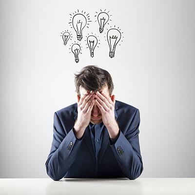 好主意,正面视角,领导能力,灵感,电灯泡,白人,经理,男性,仅成年人,白领