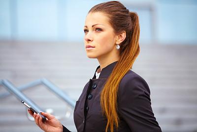 手机,女商人,建筑业,留白,套装,仅成年人,青年人,专业人员,信心,技术