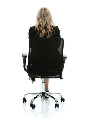 椅子,背面视角,女商人,垂直画幅,套装,高跟鞋,白人,不看镜头,仅成年人,长发