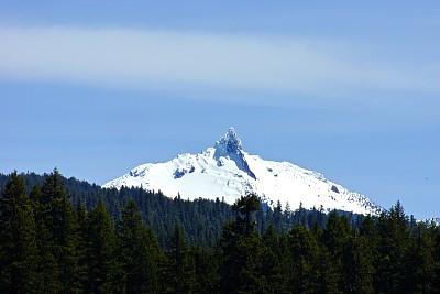冰,山,速度滑冰,塔,华盛顿山,威拉米特国家森林,卡斯基德山脉,俄勒冈州,俄勒冈郡,水平画幅