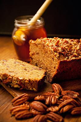 美洲山核桃,有机食品,蛋糕,垂直画幅,面包,蜂蜜,谷类食品,切片食物,蛋糕切片,份量