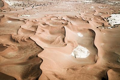 纳米布沙漠,沙丘,航拍视角,纳米比亚沙漠,盐滩,苏丝斯黎,褐色,水平画幅,高视角,山
