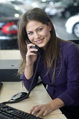秘书,自然美,垂直画幅,办公室,美,电话机,美人,忙碌,销售职位,白人