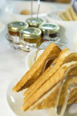 早餐,面包架,法式吐司,白面包,切片吐司,早晨,金属,面包,彩色图片,清新