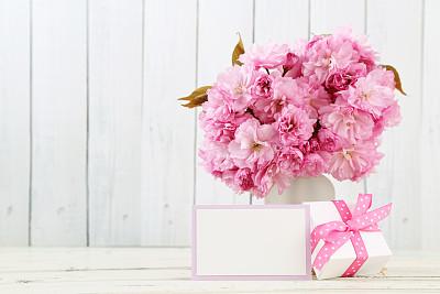 贺卡,仅一朵花,留白,边框,水平画幅,无人,标签,礼物标签,生日,花束