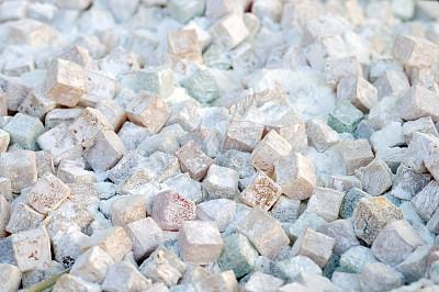 土耳其软糖,选择对焦,水平画幅,纹理效果,无人,组物体,糖粉,特写,立方体形状,彩色图片