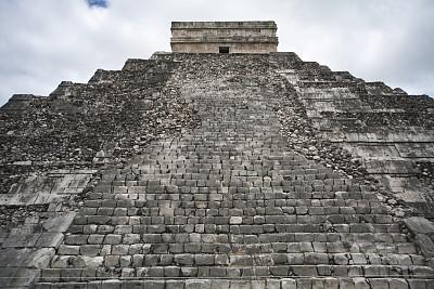墨西哥玛雅金字,玛雅历法,契晨-伊特萨,尤卡坦州,纪念碑,天空,灵性,古老的,印度人,石材